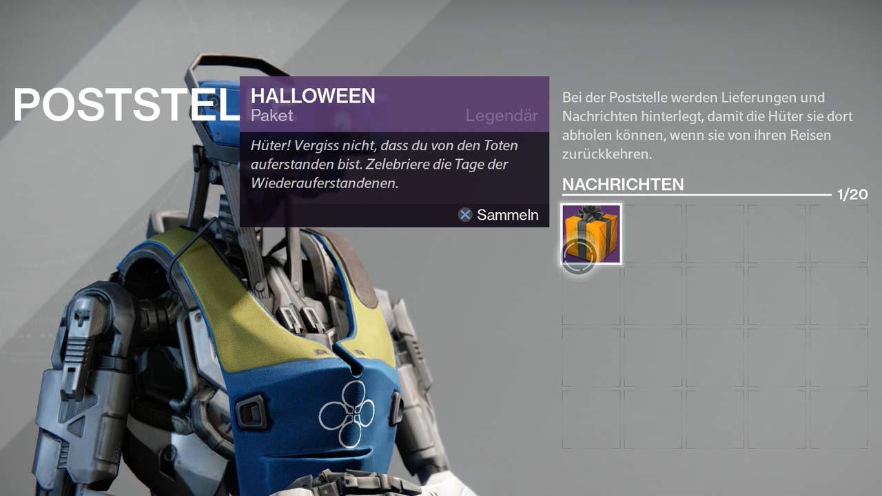 Kürbiskopf für glückliche Destiny-Spieler, Bild: Screenshot Destiny
