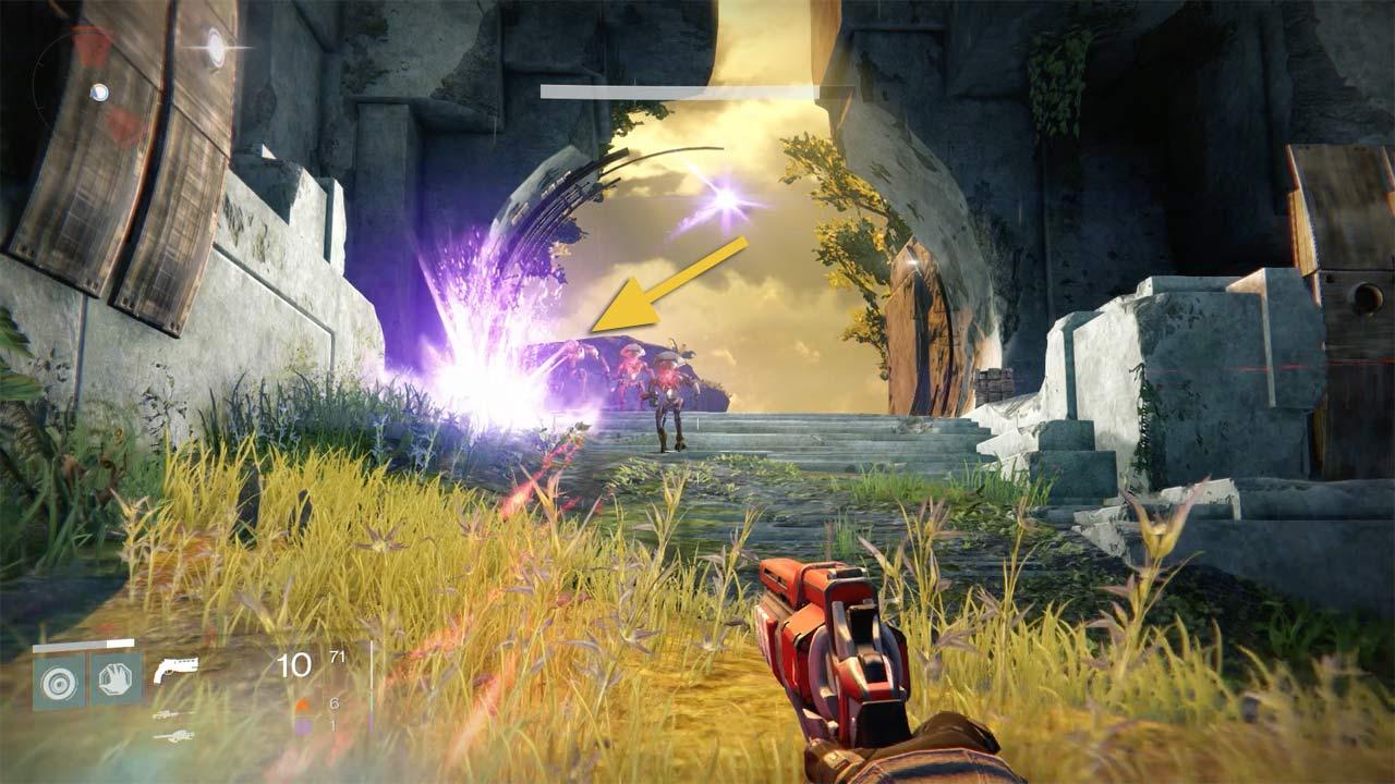 Vex-Majors auf der Venus farmen, Bild: Screenshot Destiny