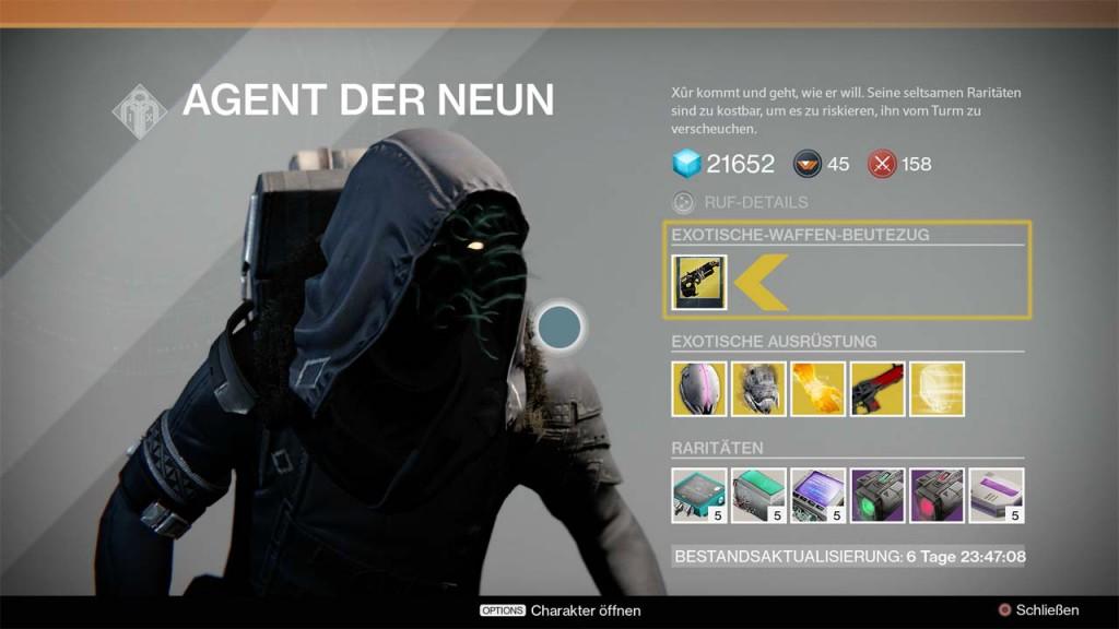 Exotische Beutezüge bei Xûr, Bild: Screenshot Destiny
