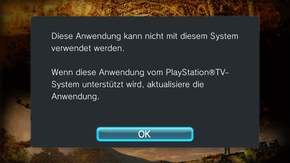 Längst nicht alle Spiele der Vita laufen auf Playstation TV, Bild: Screenshot PSTV