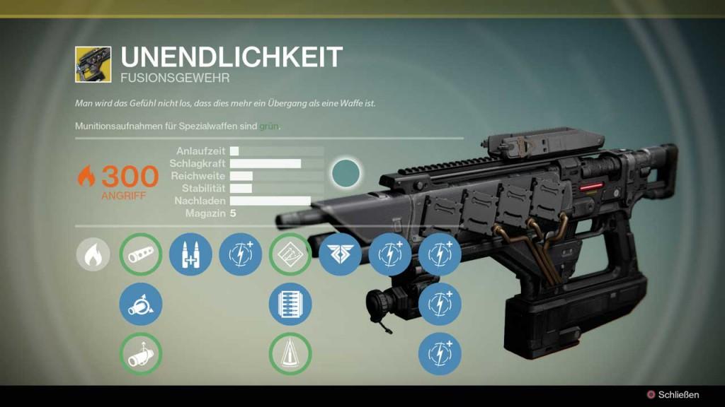 Fusionsgewehr Unendlichkeit, Bild: Screenshot Destiny