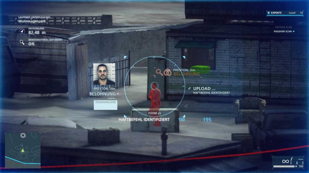 Verbrecher in Battlefield Hardline markieren und scannen, Bild: Screenshot