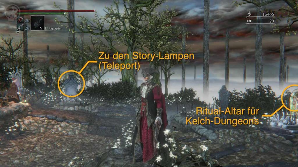 Ritual-Altare für Kelch-Dungeons, Bild: Screenshot Bloodborne