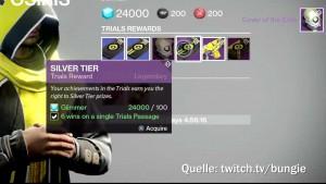 Brother Vance verkauft wöchentlich wechselnde Gegenstände an siegreiche Spieler, Bild: Bild: Bungie via Twitch