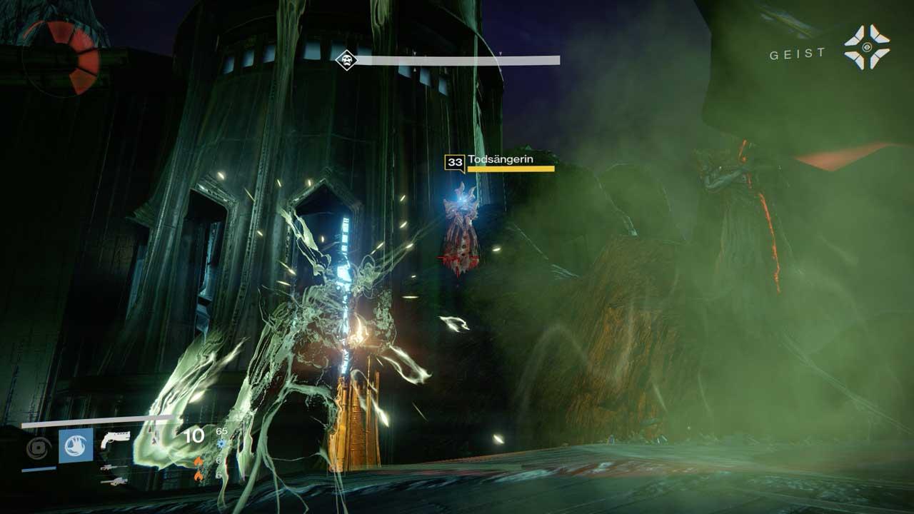 Eine Tarnung in der Nähe von Hexen ist praktisch. Solange sie funktioniert... Bild: Screenshot Destiny