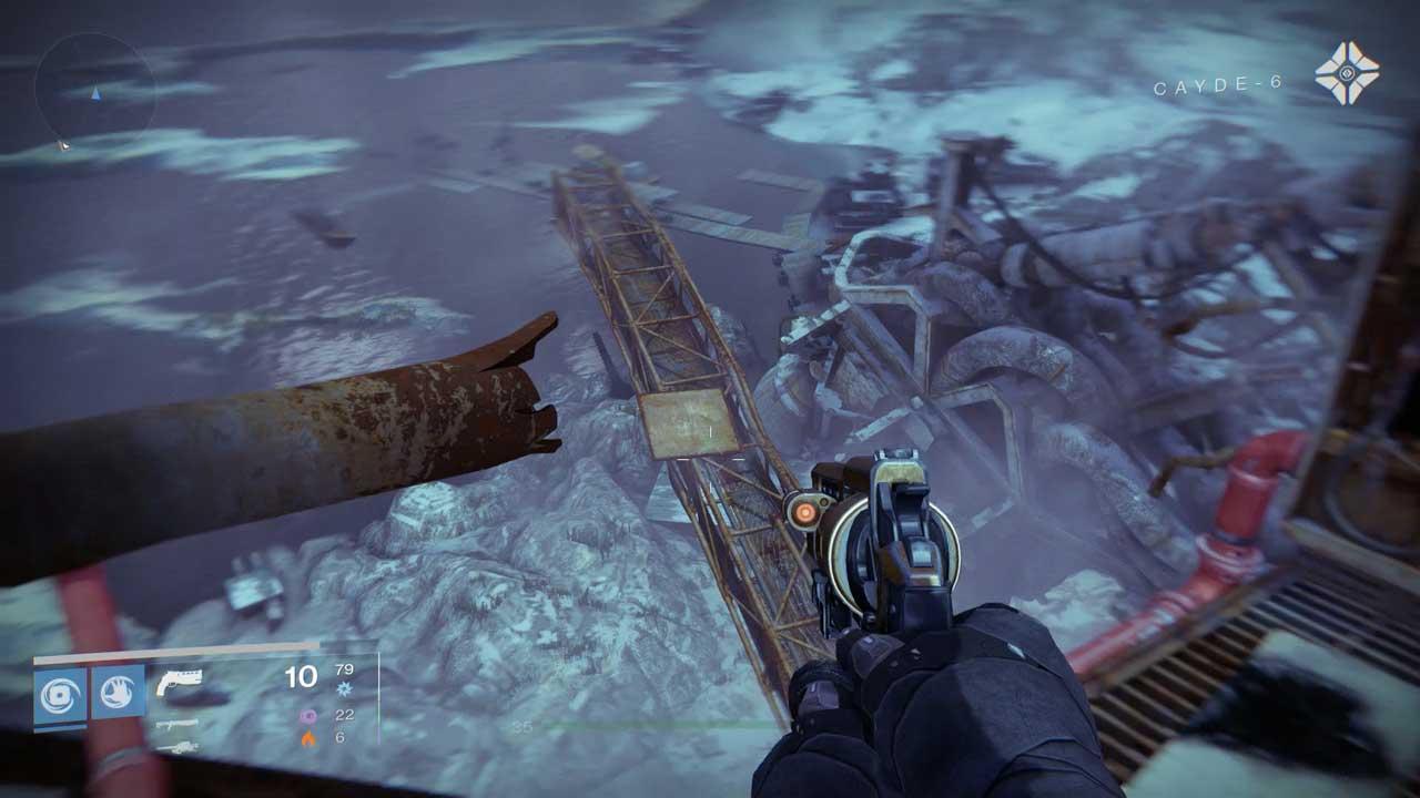 Diese Brücke muss erst geschwenkt und dann überquert werden. Bild: Screenshot Destiny