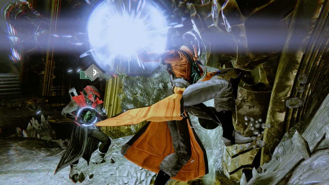 Relikte müssen in Destiny im Team abgeliefert werden, um ein Portal zu öffnen. Bild: Screenshot