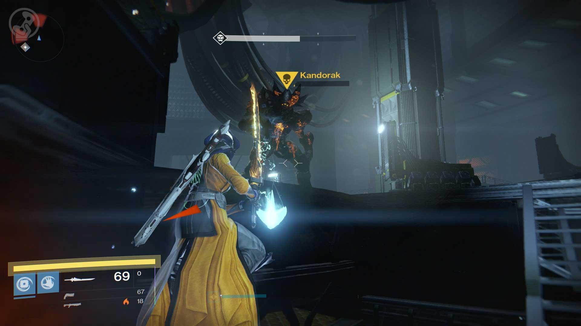 Kandorak, Boss-Gegner der Mission der letzte Schutzwall. Bild: Screenshot Destiny