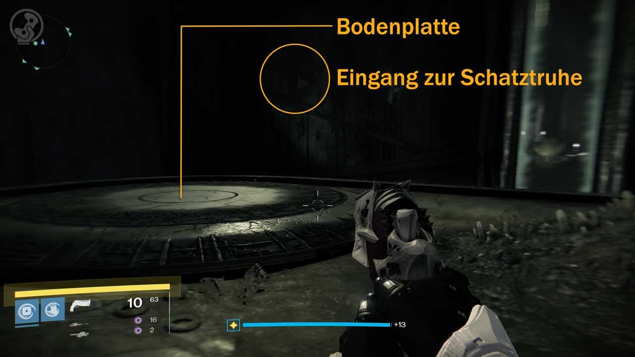 Weg zur geheimen Schatztruhe, Bild: Screenshot Destiny