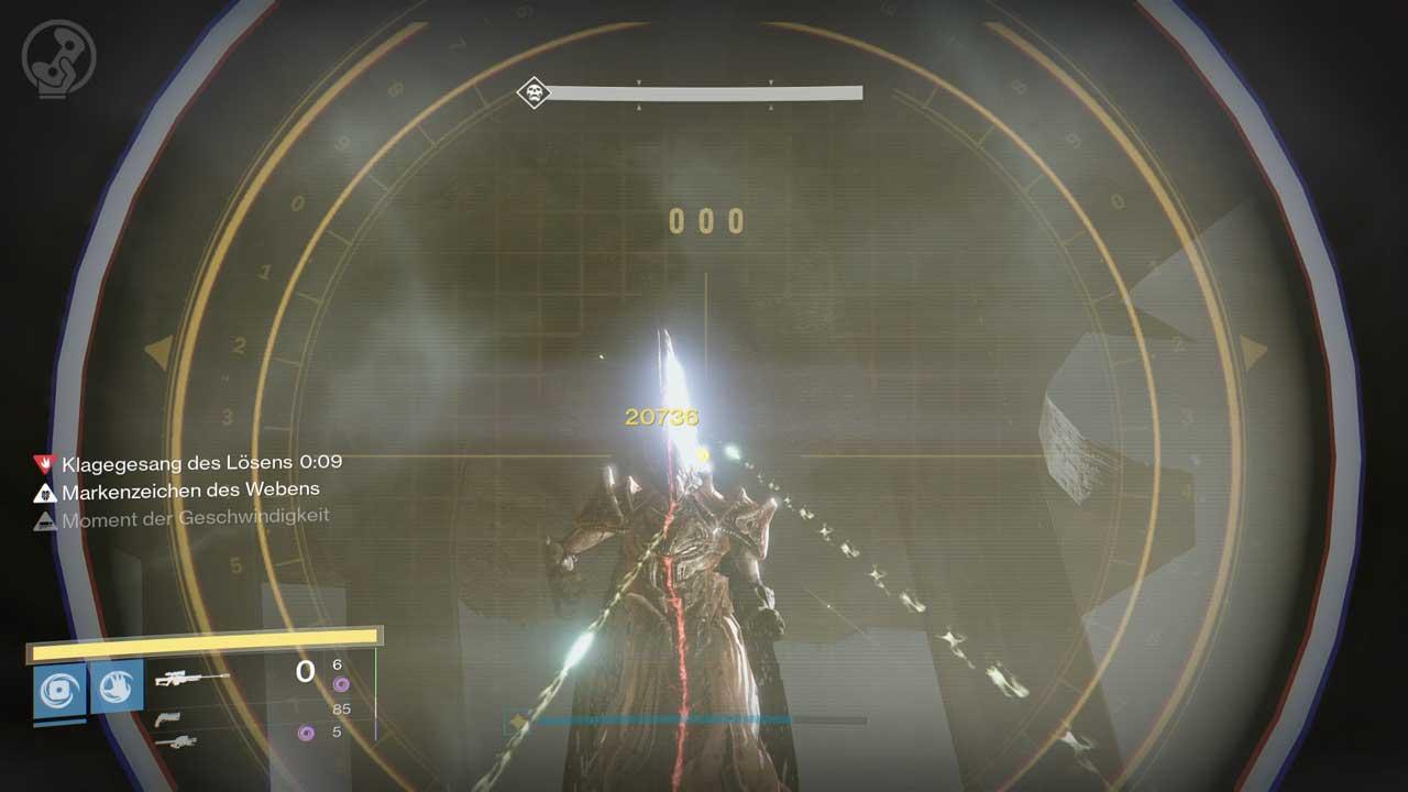 Oryx Tochter angreifen, Bild: Screenshot Destiny