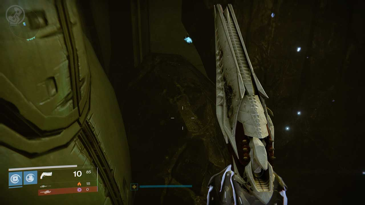 Kalzifiziertes Fragment XXXI in Golgoroths Keller, Bild: Screenshot Destiny
