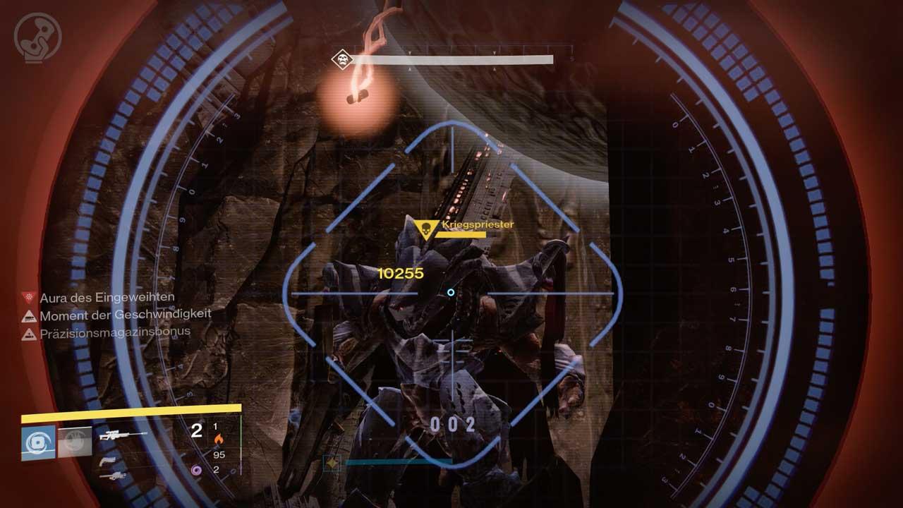 Kriegspriester im Raid Königsfall angreifen, Bild: Screenshot Destiny