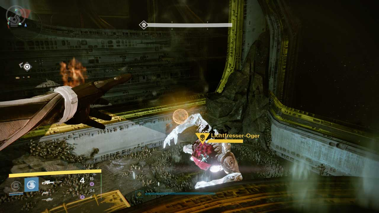 Lichtfresser-Oger tauchen neben den Sockeln auf und lassen nach dem Ableben Bomben fallen. Bild: Screenshot Destiny