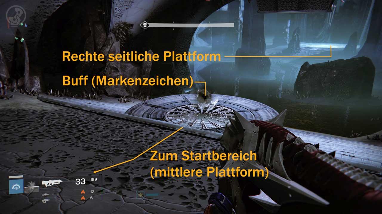 Markenzeichen-Buff im Raid Königsfall, Bild: Screenshot Destiny