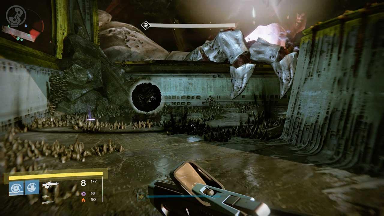 Aktiviert alle vier Bomben, um Oryx beträchtlichen Schaden zuzufügen. Bild: Screenshot Destiny