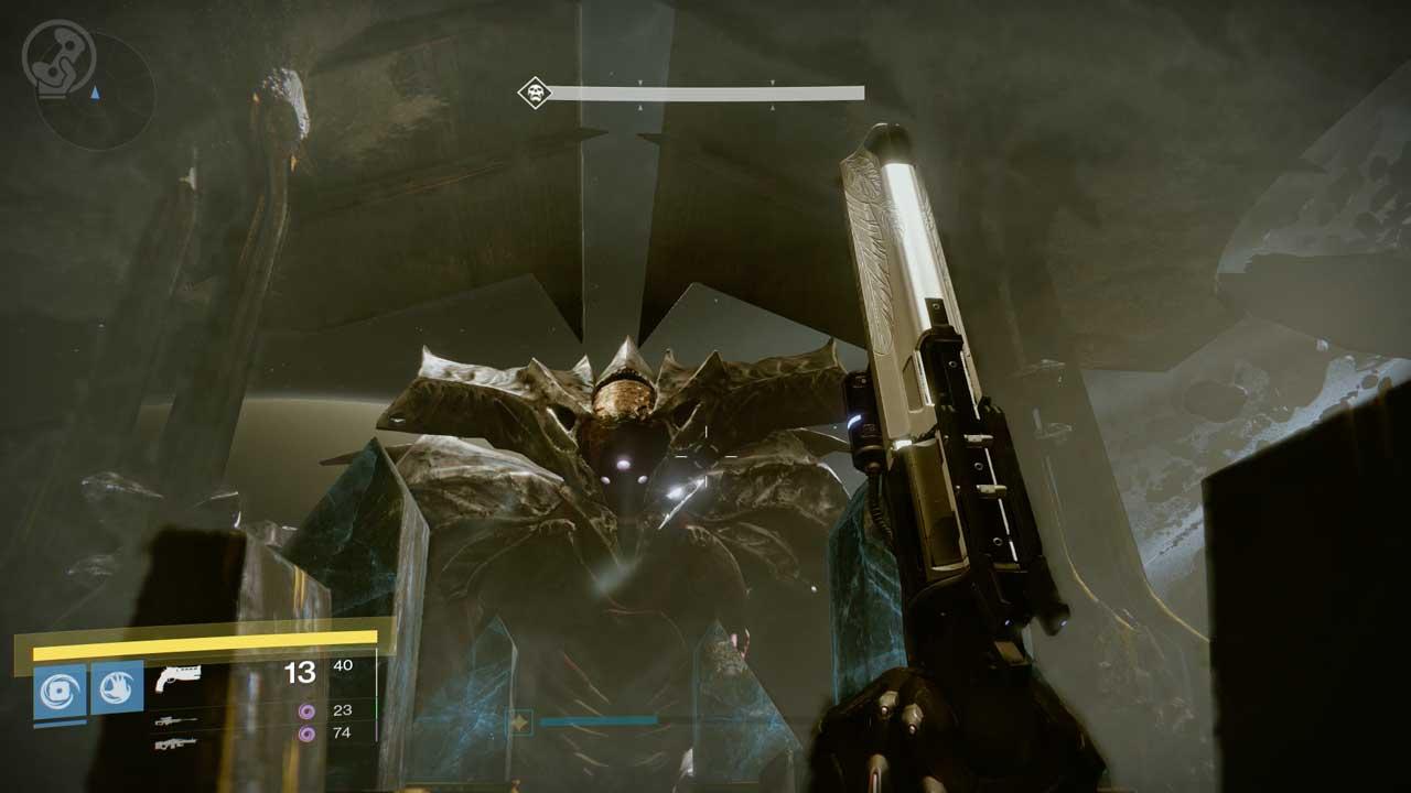 Bosskampf gegen Oryx im Raid Königsfall, Bild: Screenshot Destiny