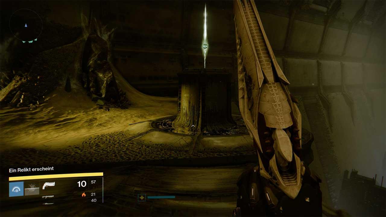 Wer ein Relikt aufnimmt, ist auf den Schutz durch Teamgefährten angewiesen. Bild: Screenshot Destiny