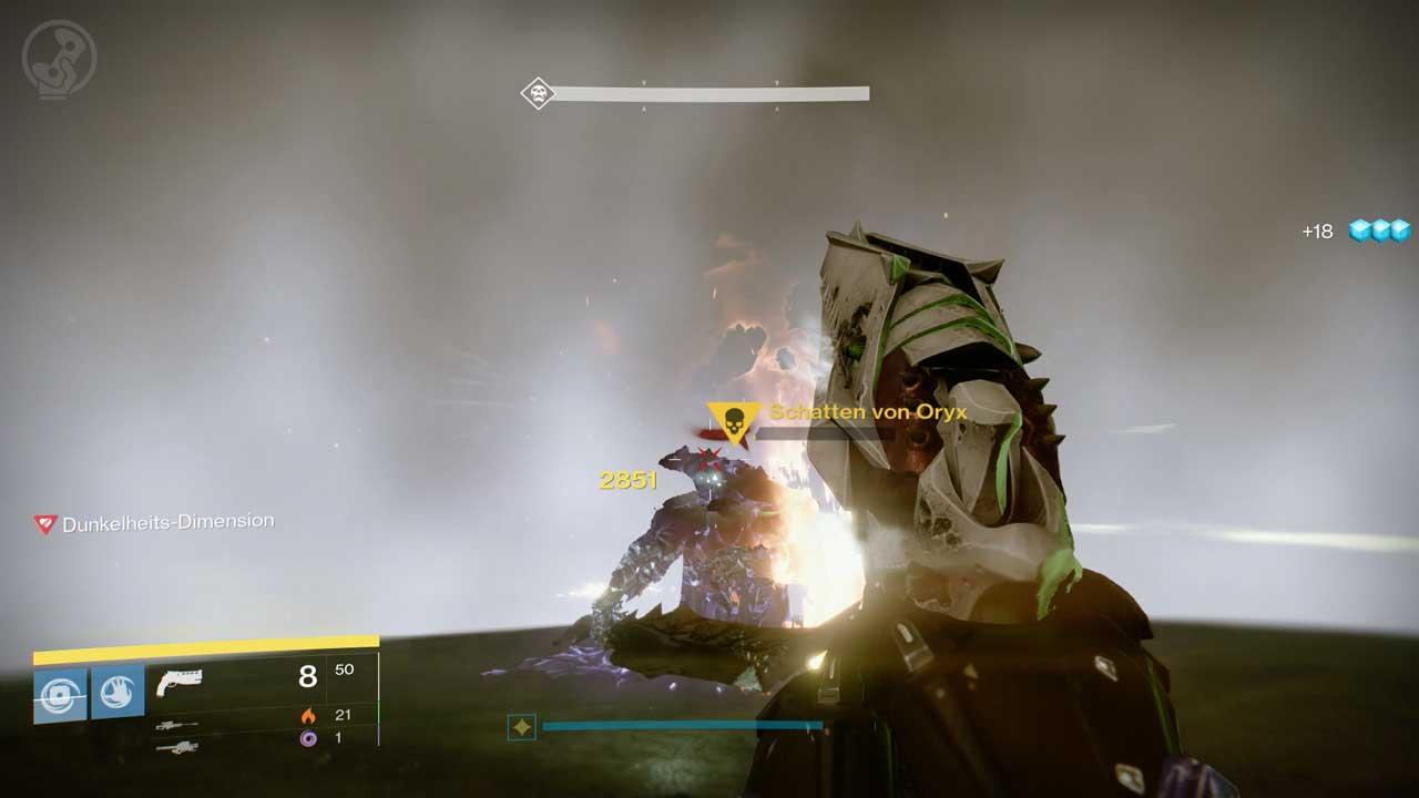 Schatten von Oryx innerhalb der Kuppel im Raid Königsfall, Bild: Screenshot Destiny