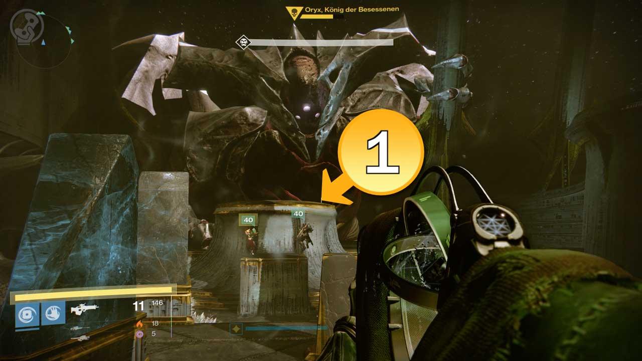 Dynamisch Verteilung: Position 1 beginnt stets bei Oryx. Bild: Screenshot Destiny