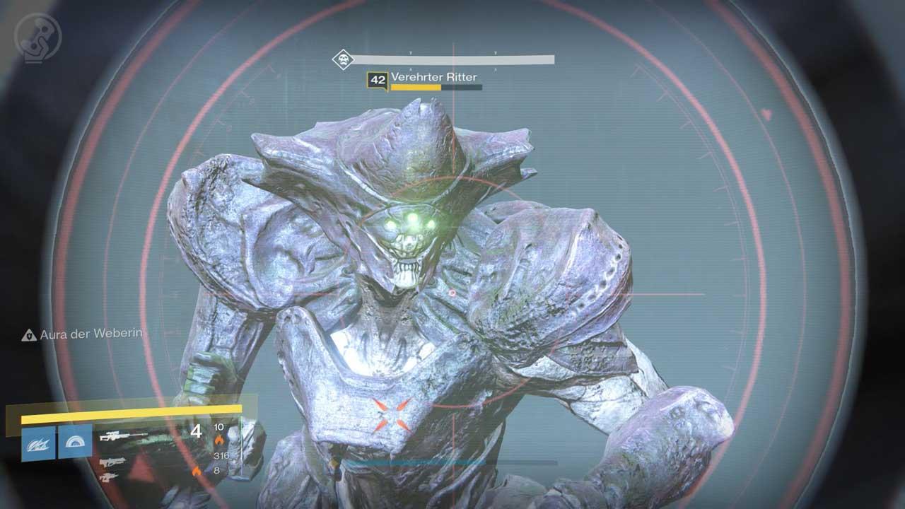 Verehrte Ritter sind das einzig Neue in der Portal-Phase des Raids Königsfall auf Schwierigkeit schwer, Bild: Screenshot Destiny