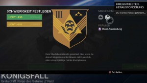 Kriegspriester-Herausforderung im Destiny-Raid Königsfall, Bild: Screenshot Destiny