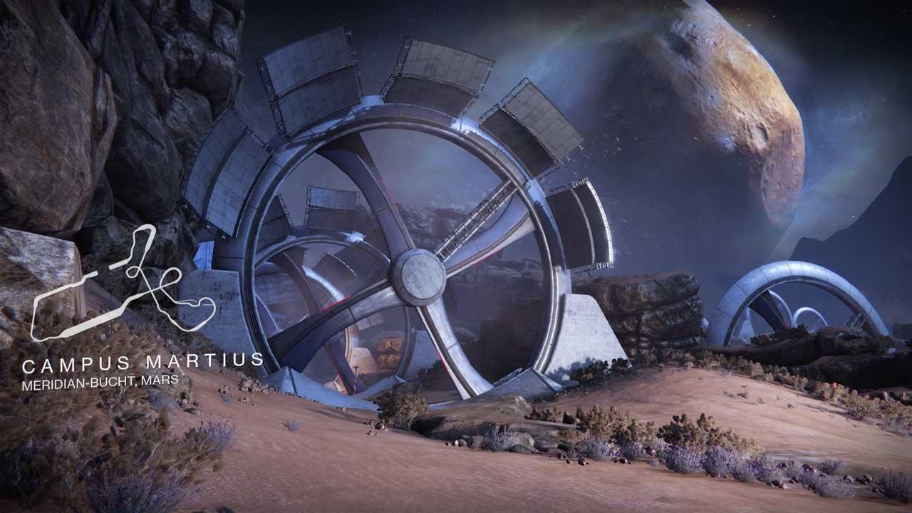 Sparrow-Rennen auf dem Mars-Kurs Campus Martius, Bild: Screenshot Destiny