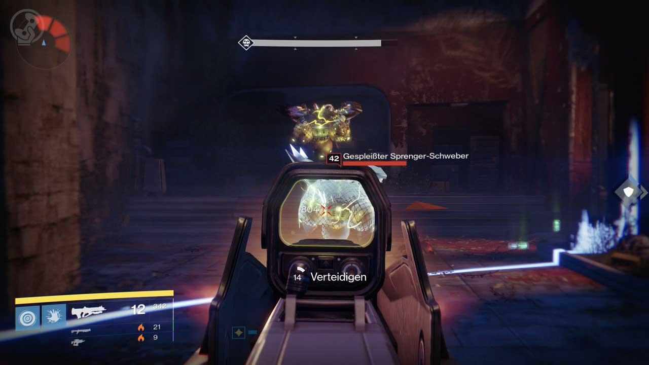 Diese gespleißten Sprenger-Schweber explodieren in eurer Nähe und richten verheerenden Schaden an. Bild: Screenshot Destiny