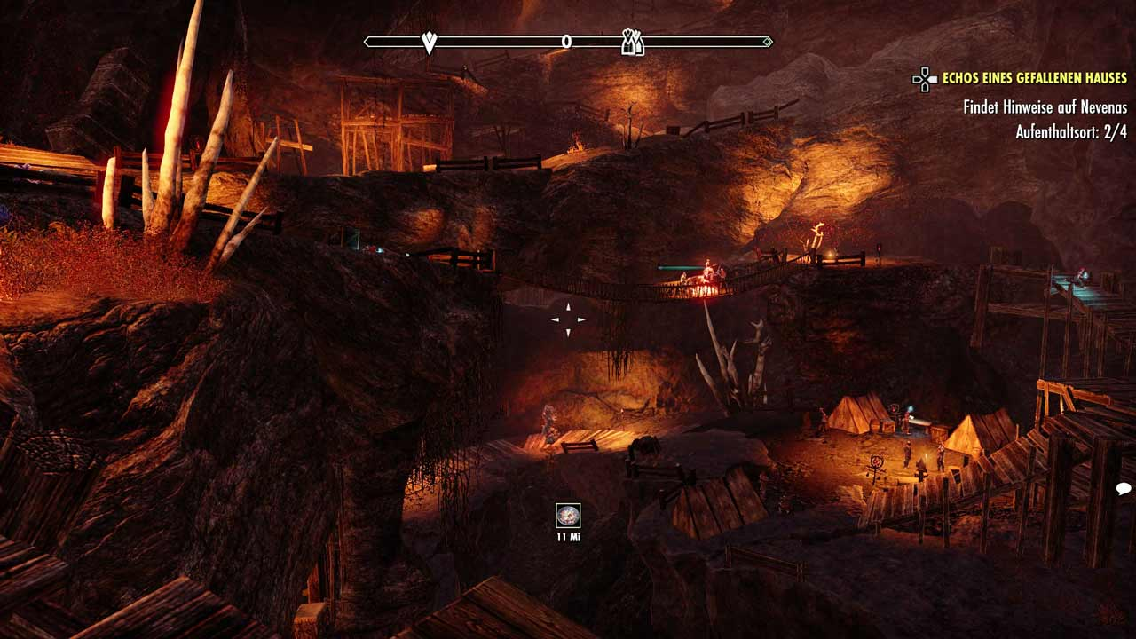 Neuer Vertikal-Stil in Dungeons: auf mehreren Ebenen wird hier gleichzeitig gekämpft. Bild: Screenshot ESO