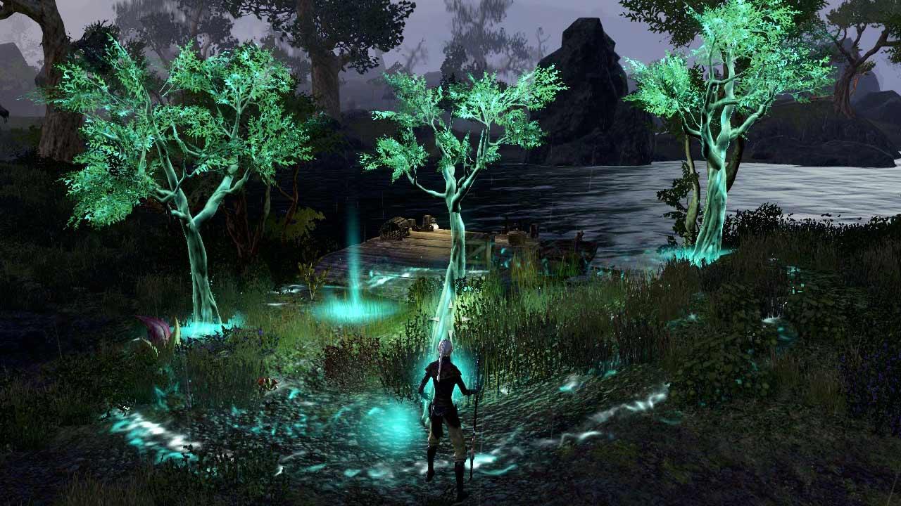 Die Heil-Ulti des Hüters lässt im Wirkradius Bäume aus dem Boden schießen. BIld: Screenshot ESO