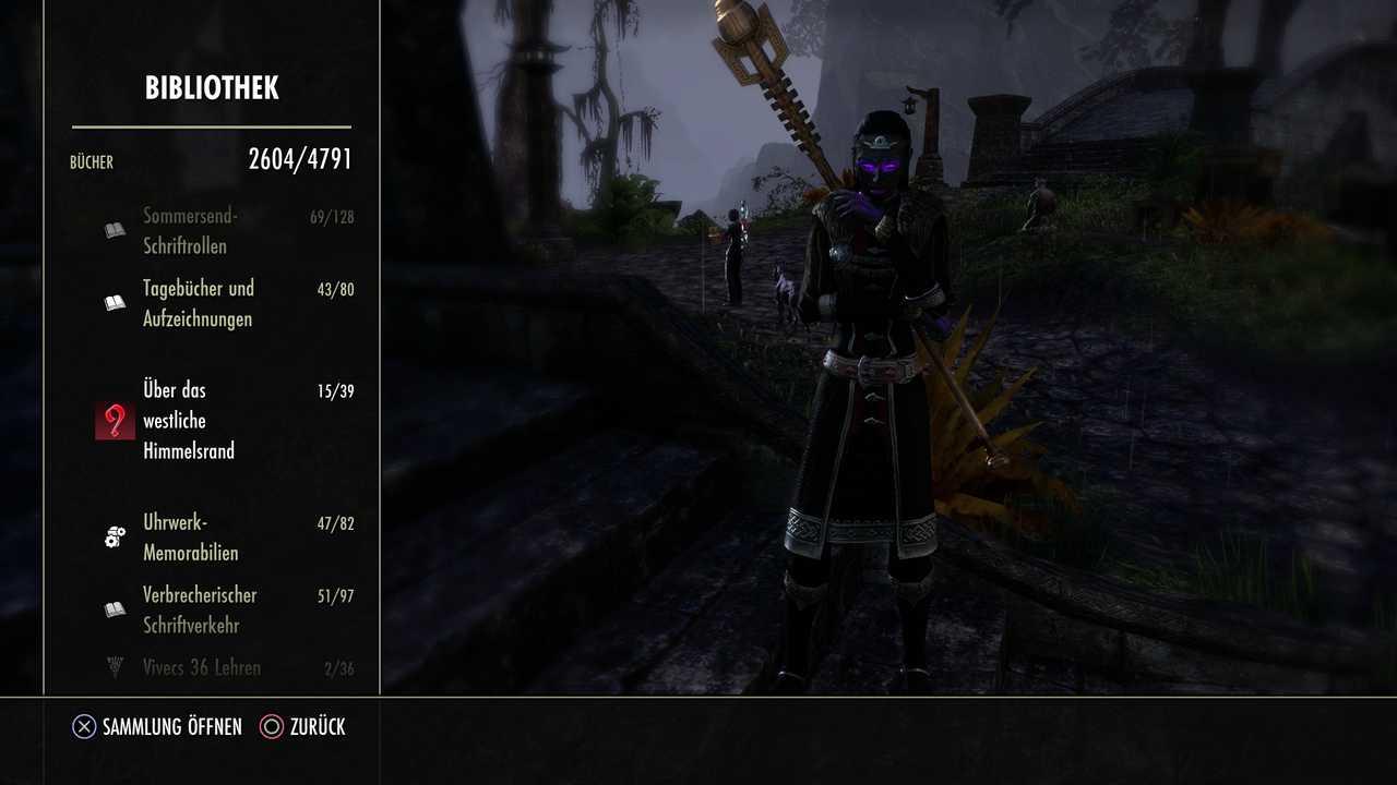 Grafik-Bug bei der Anzeige von Büchern in Elder Scrolls Online Greymoor