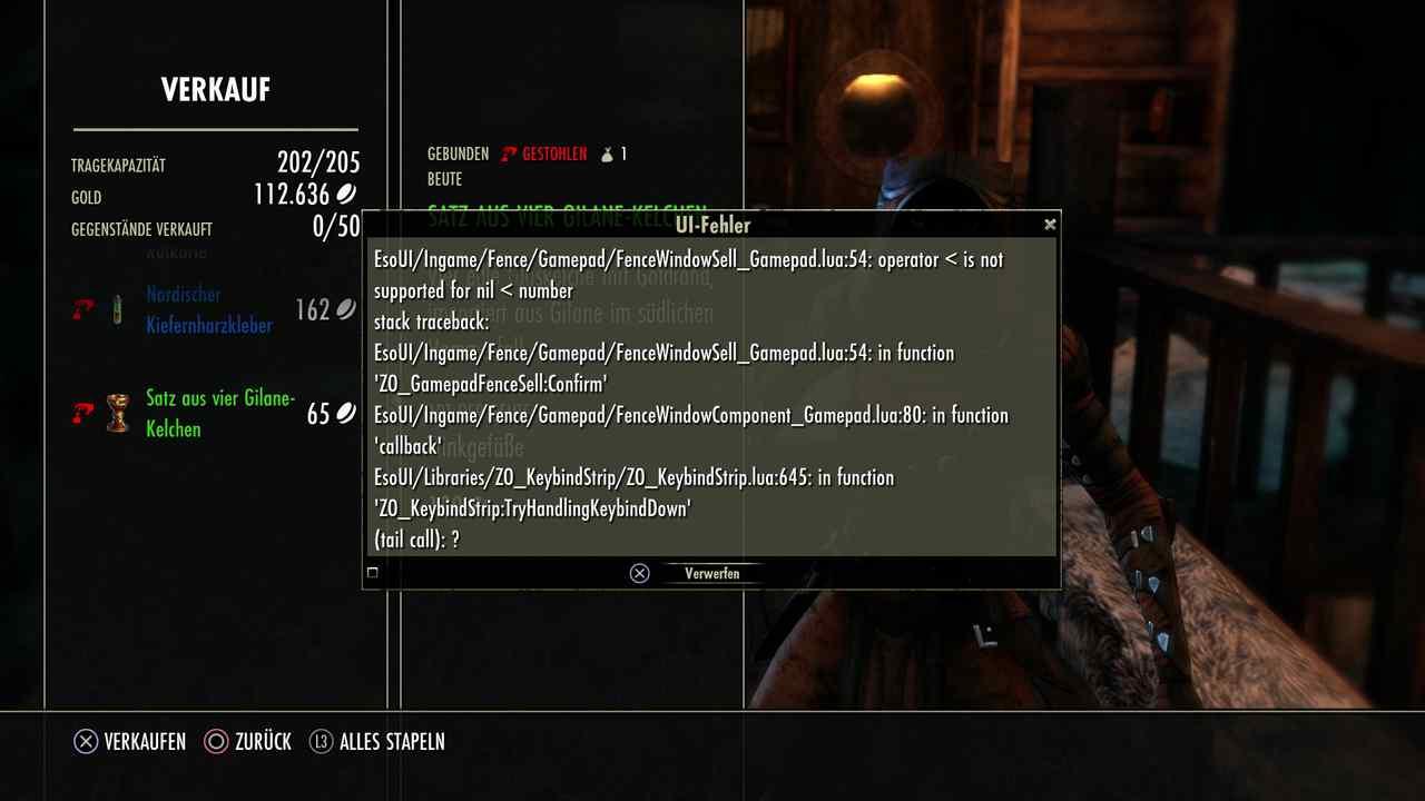 Hehler-Bug in Elder Scrolls Online